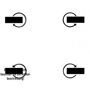 Fetra mit 4 Lenkrollen - Rad-ø 125 mm -Mehrpreis-