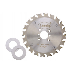 Lamello Sägeblatt, HW, Ø 120 mm, Z20 mit 2 Distanzscheiben