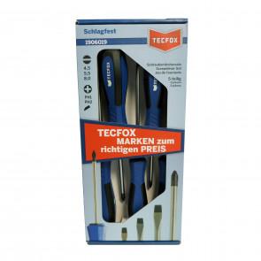 TECFOX Schraubendrehersatz 5-teilig, schlagfest