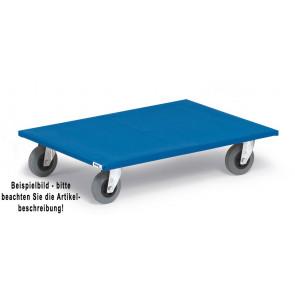 Fetra Möbelroller 2358 Ladefläche 800 x 600 mm, Vollg. blaugrau
