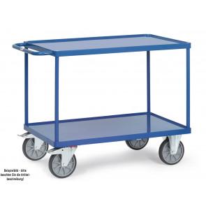Fetra Tischwagen 2400W mit Stahlblech-Wannen Ladefläche 850 x 500 mm