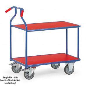 Fetra Optiliner-Tischwagen 3601  blau/rot Ladefläche 900 x 600 mm
