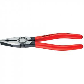 Knipex Kombizange 180 mm, poliert, Kunststoff überzogen