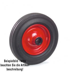 Fetra Vollgummirad 200 x 50 mm Stahlblech-Felge rot