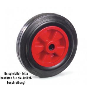 Fetra Vollgummirad 250 x 60 mm Kunststoff-Felge rot