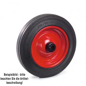 Fetra Vollgummirad 250 x 60 mm Stahlblech-Felge rot