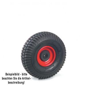 Fetra PU-geschäumtes Rad 260 x 85 mm Stahlblech-Felge rot, NL 75, Bo. 25