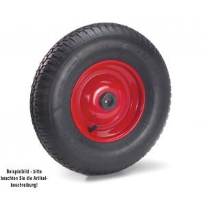 Fetra Luftrad 400 x 100 mm Stahlblech-Felge rot