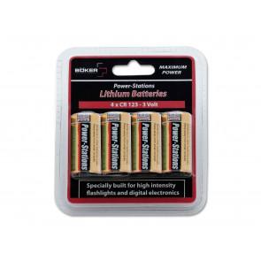 Böker Plus Power-Stations Batterie-Set 4  x CR123 Batterie 09BO123