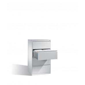 Hängeregistraturschrank für Hängehefter DIN A4, 4 Schubladen, zweibahnig