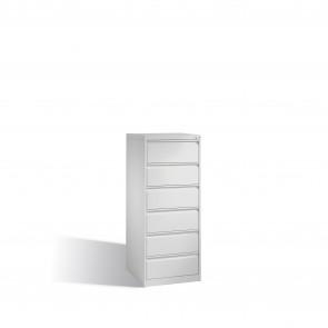 Karteischrank Acurado für Karteikarten DIN A5 quer, 6 Schubladen, zweibahnig