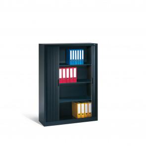 Akten-Sideboard Omnispace mit Rollladen, 4 Ordnerhöhen, H1660xB1200xT420mm