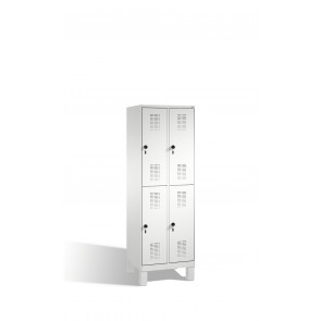 Doppelstockspind Evolo auf Füßen, 4 Fächer, H1850xB600xT500mm