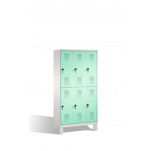 Doppelstockspind Evolo auf Füßen, 6 Fächer, H1850xB900xT500mm