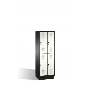 Doppelstockspind Evolo auf Sockel, 4 Fächer, H1800xB600xT500mm