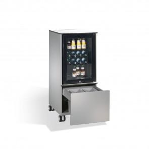 Kühlschrank-Caddy Asisto mit Abfallsammler, H1150xB500xT600mm