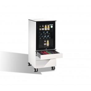 Kühlschrank-Caddy Asisto für Cappuccino- und Lungo-Tassen, H1150xB500xT600mm
