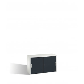Akten-Sideboard Acurado mit Schiebetüren, 2 x 2 Ordnerhöhen, H720xB1200xT400mm