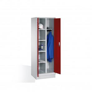 Wäsche-Spind Classic auf Sockel, 2 Abteile, H1850xB610xT500mm