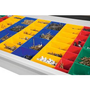 Schubladeneinteilungen / Kunststoffkästen für Werkzeugschrank B930xT500/600mm