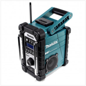 Makita Baustellenradio DMR 110  für Empfang von DAB, DAB+ und FM , IP64, Mini-USB