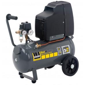 Schneider mobiler Kolbenkompressor UNM 210-8-25 WXOF, Wechselstromausführung, Filterdruckminderer, ölfrei