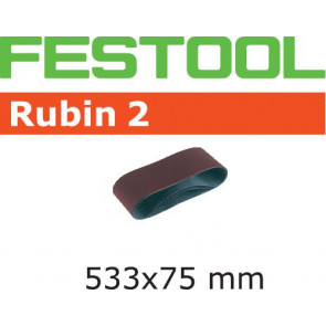 Festool Schleifband L533X 75-P60 RU2/10 Rubin 2