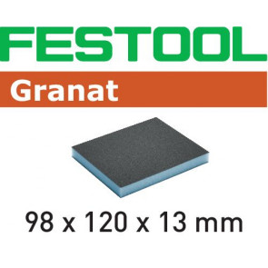Festool Schleifschwamm 98x120x13 800 GR/6 Granat