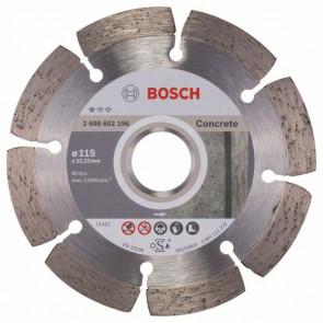 Bosch Diamanttrennscheibe Standard for Concrete, 115 x 22,23 x 1,6 x 10 mm, 1er-Pack