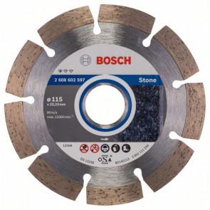 Bosch Diamanttrennscheibe Standard for Stone, 115 x 22,23 x 1,6 x 10 mm, 1er-Pack