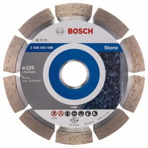 Bosch Diamanttrennscheibe Standard for Stone, 125 x 22,23 x 1,6 x 10 mm, 1er-Pack