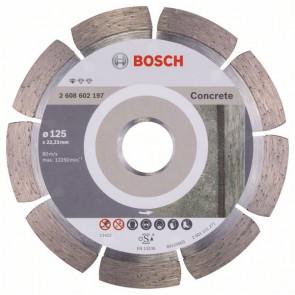 Bosch Diamanttrennscheibe Standard for Concrete, 125 x 22,23 x 1,6 x 10 mm, 1er-Pack