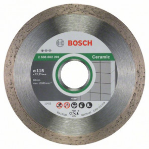 Bosch Diamanttrennscheibe Standard for Ceramic, 115 x 22,23 x 1,6 x 7 mm, 1er-Pack