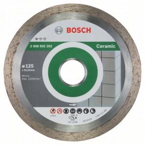 Bosch Diamanttrennscheibe Standard for Ceramic, 125 x 22,23 x 1,6 x 7 mm, 1er-Pack