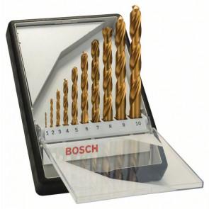 Bosch Metallbohrer-Set Robust Line HSS-TiN, 135°, 10-teilig, 1 - 10 mm