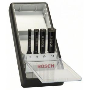 Bosch Diamantnassbohrer-Set Robust Line, 4-teilig, 6 - 14 mm