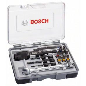 Bosch Schrauberbit-Set Drill & Drive, 20-teilig, mit HSS-Bohrern, Schraubenschlüssel