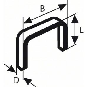 Bosch Feindrahtklammer Typ 53, 11,4 x 0,74 x 6 mm, 1000er-Pack
