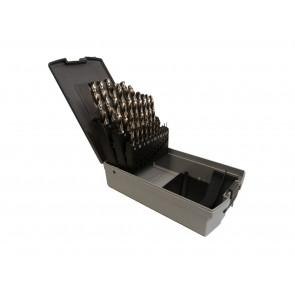 TECFOX HSS-Spiralbohrersatz 1-13 mm, 25-teilig in Kassette