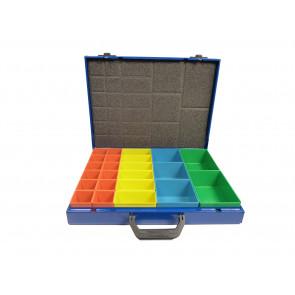 TECFOX Sortimentskoffer blau mit Wechselboxen