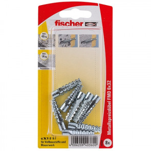 fischer Metallspreizdübel FMD 6x32 K (8), 5 Stück