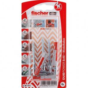 fischer DUOPOWER 8x40 WH K (4), 5 Stück