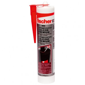 fischer Hochtemperatursilicon DHS 310 rot, 12 Stück