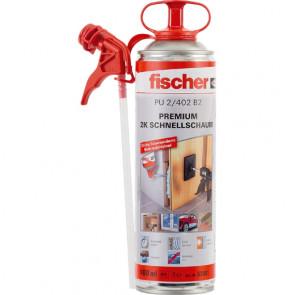 fischer Premium 2K-Schnellschaum PU 400, 12 Stück