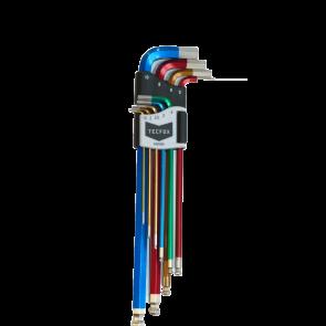 TECFOX Stiftschlüsselsatz 1,5 - 10 mm Innensechskant mit Kugelkopf