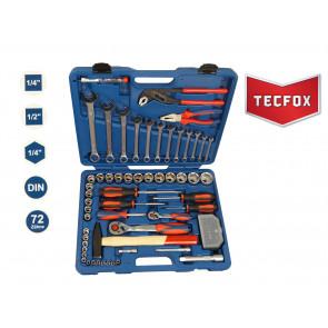 TECFOX Werkzeugsatz im Koffer, 88-teilig