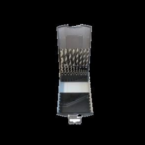 TECFOX HSS-Spiralbohrersatz 1-10 mm, 19-teilig in Kassette